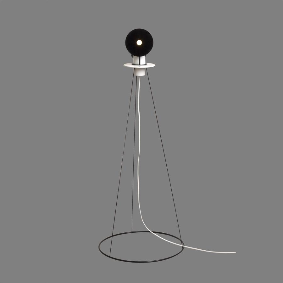 Eclipse floor lamp black