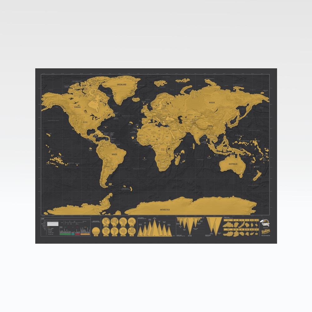 scratch map deluxe prints frames paraphernalia. Black Bedroom Furniture Sets. Home Design Ideas