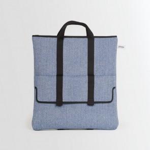 2 Way bag Blue Herringbone
