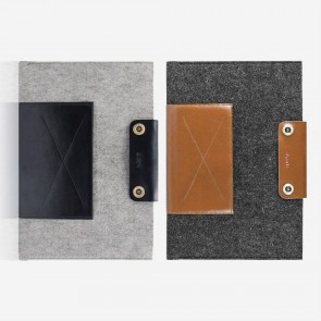 Wool & Leather Notebook Sleeve