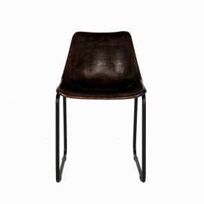 Rough chair dark brown