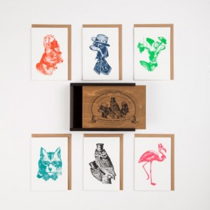 The sophisticated animal card set
