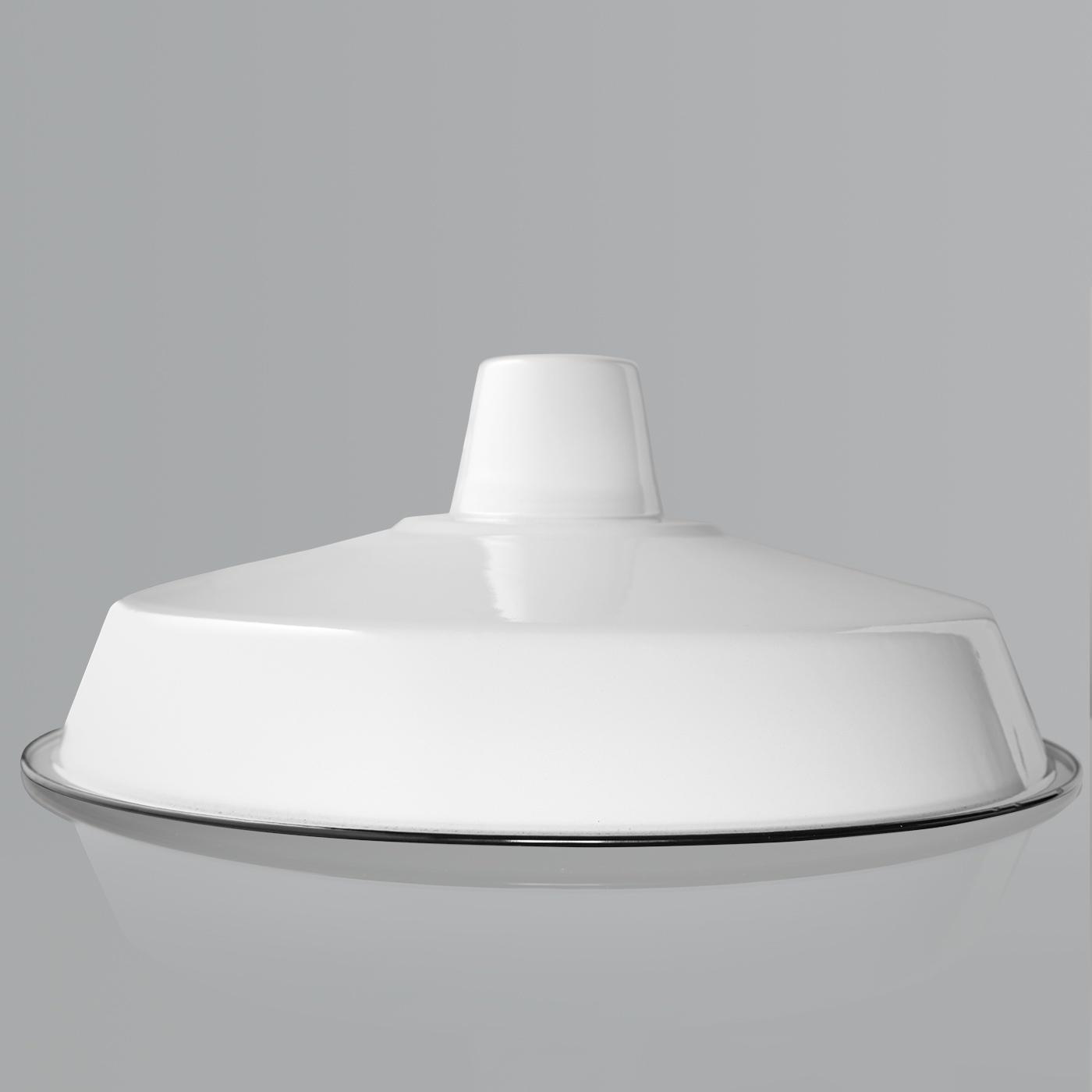 Large Enamel Shade White
