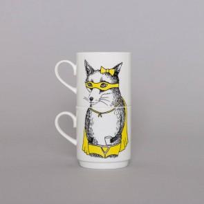 The Bandit Fox Stackable Tea Mugs