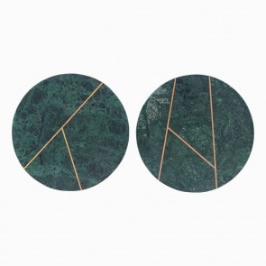 Marble Tray round green