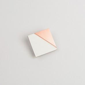 Form Square Pin Copper & Grey