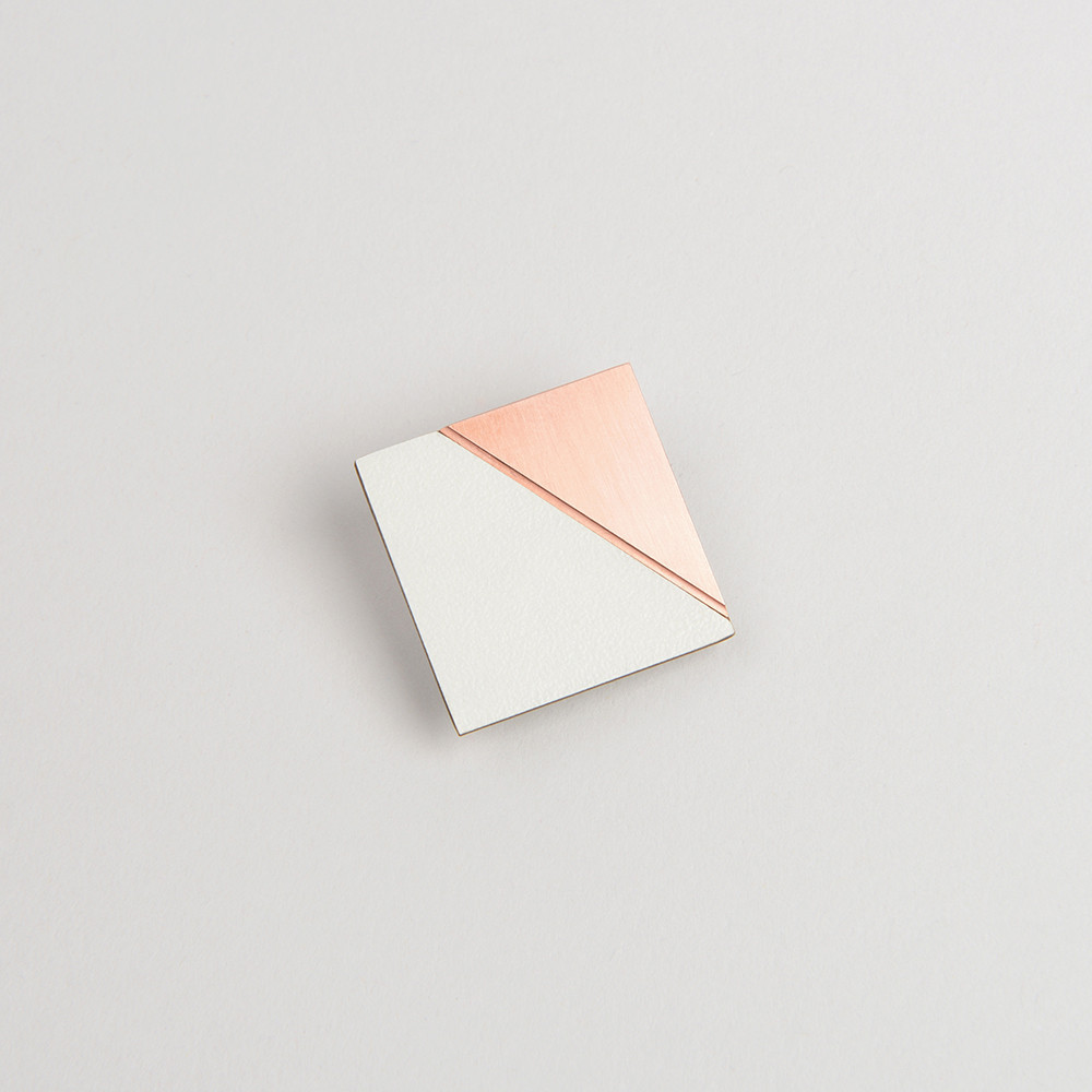Solid copper & formica pin