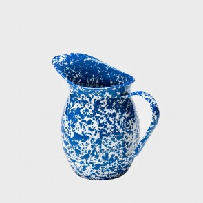 Small Marbled enamel pitcher blue