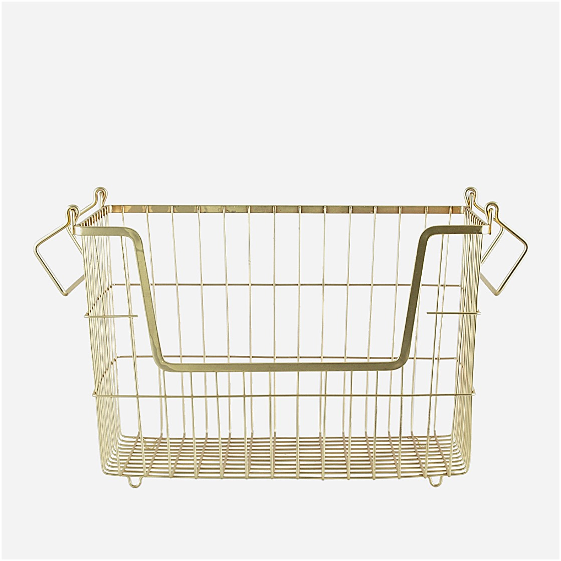 Basket with handles gold