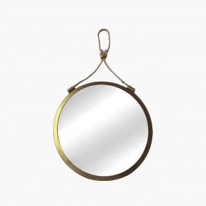 Hanging Mirror Brass