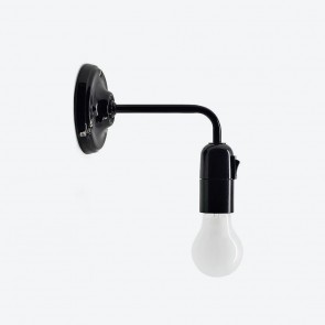 Switched adjustable wall lamp