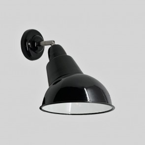Angled Cloche Enamel Lamp Wall