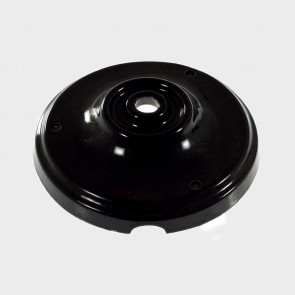 Black glazed porcelain ceiling rose