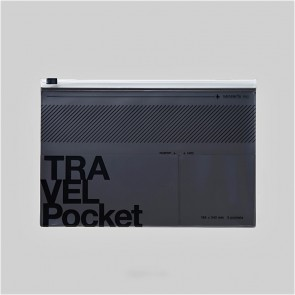 Travel File Case Metallic Grey