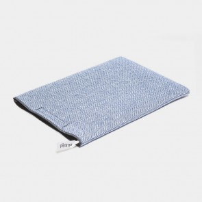 Blue Herringbone Notebook velcro case