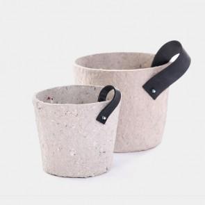 Paper pulp cachepot