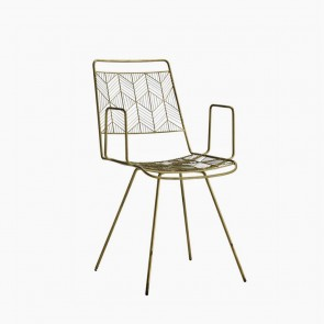 Brass wire chair