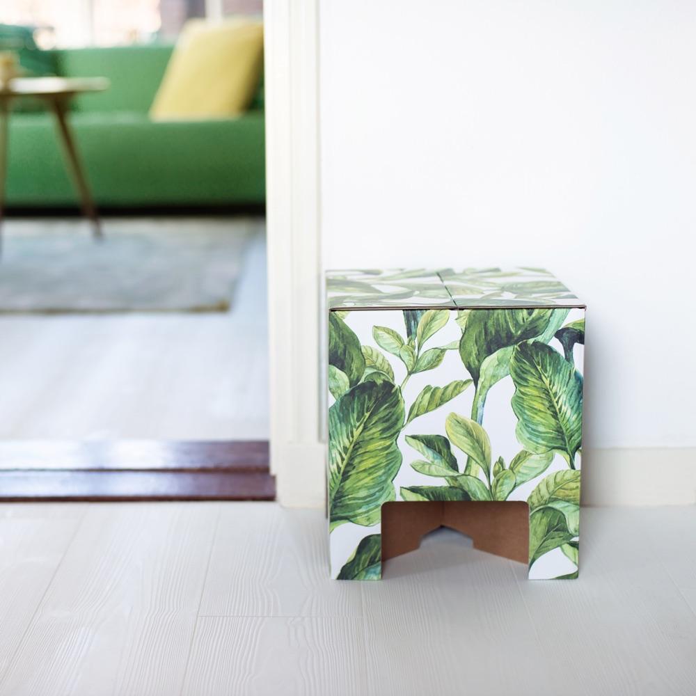 Dutch Design Chair woodstack Dutch Design Chair Green Leaves