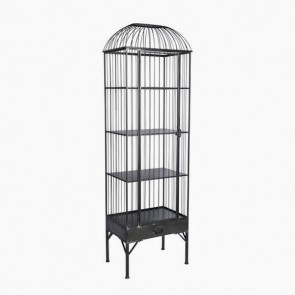 Metal Birdcage Cabinet Tall
