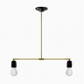 Brass & Porcelain adjustable lamp