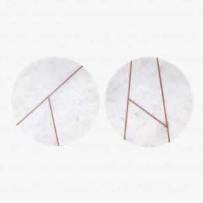 Marble Tray round white