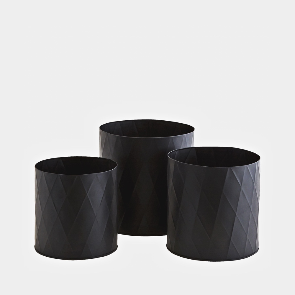 Harlequin plant pots black