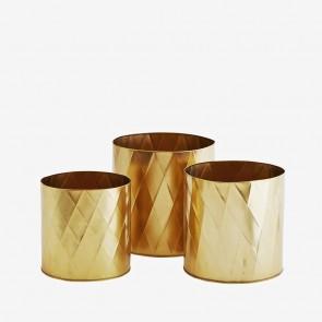 Harlequin plant pots gold