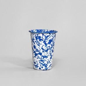 Marbled enamel tumbler blue