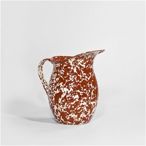 Small Marbled enamel pitcher burgundy