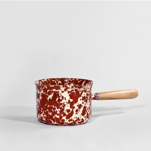 Marbled enamel milk & sauce server