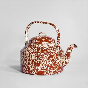 Marbled enamel Tea Kettle Burgundy