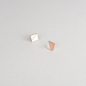 Form Square Earring Copper & Grey