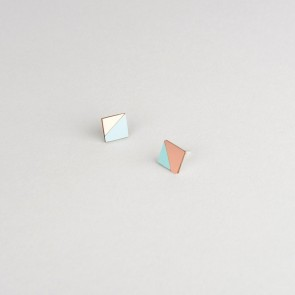 Form Square Earring Copper & Mint