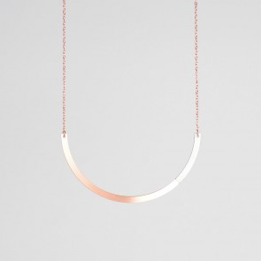 Form Circle Necklace Copper & Grey