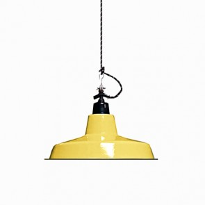 Enamel Lamp Shade Mustard Yellow