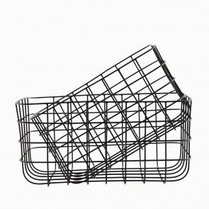 Storage basket black