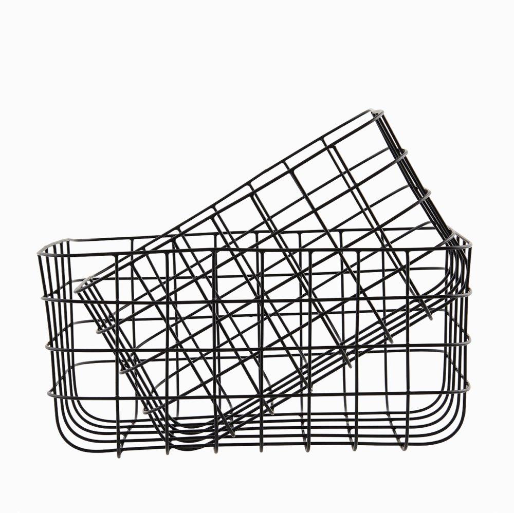 Storage basket black