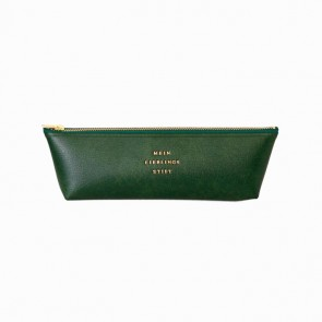 Fastener Pen Case Green