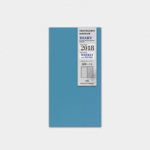 Traveler's Notebook 2018 Diary Weekly+Memo
