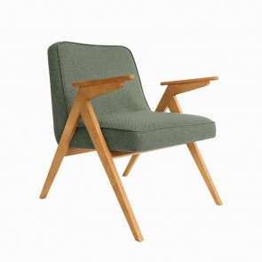 Bunny armchair Tweed Aqua Green