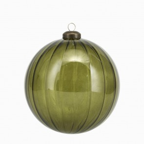 Christmas Green Glass Bauble