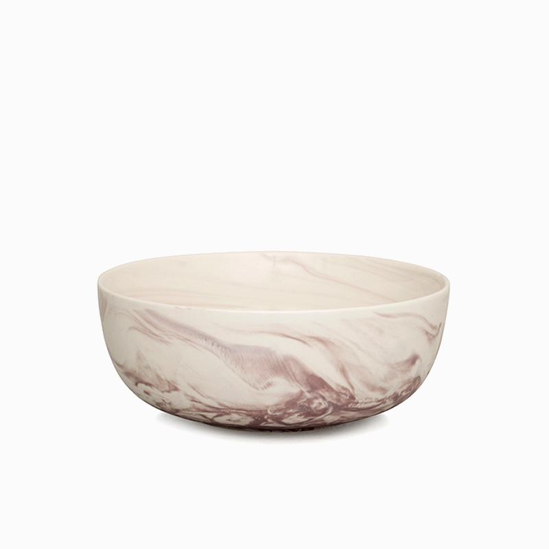 Marble Salad Bowl Pink