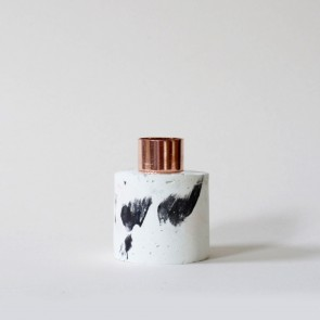 Marbled Concrete Candle Holder