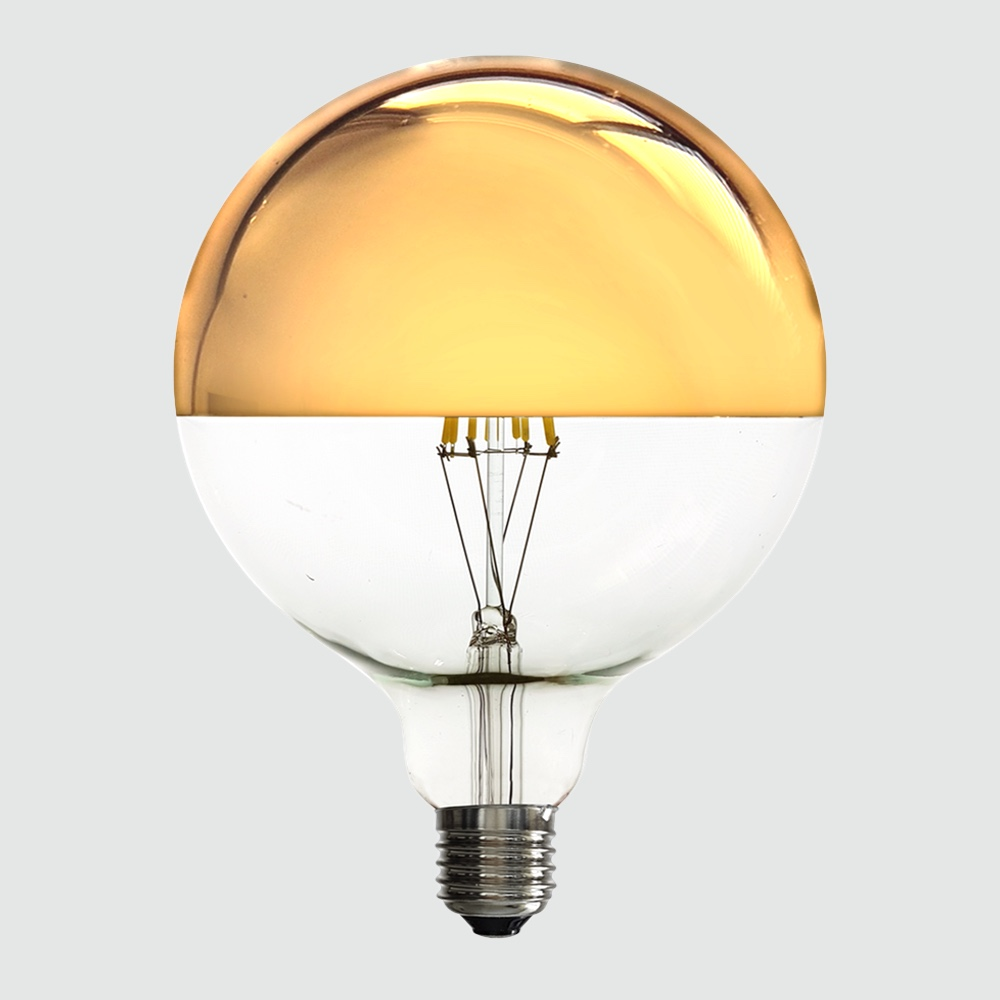 Led Crown Mirror Gold G125