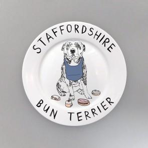 Staffordshire bun terrier side plate