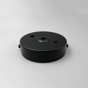 Ceiling rose black 2+1 holes