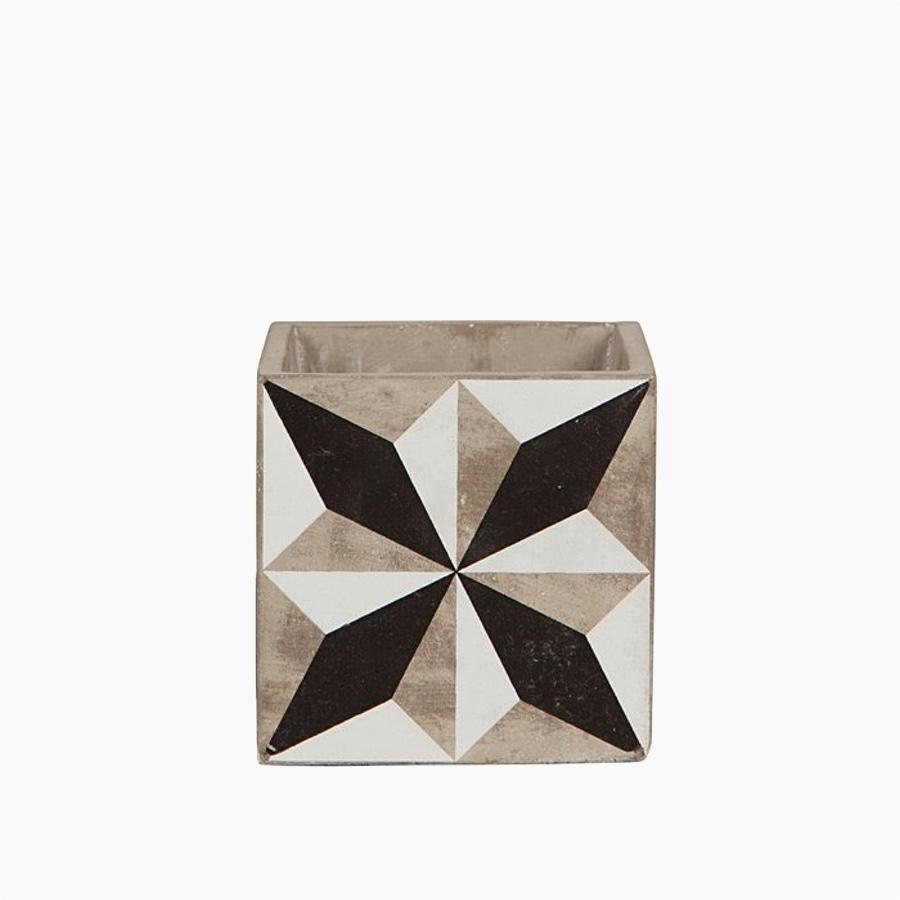 B&W Tile Pot