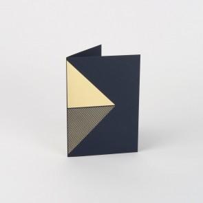 Reflex Card Brass & Navy