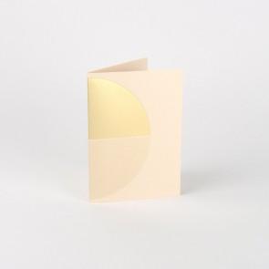 Reflex Card Brass & Nude