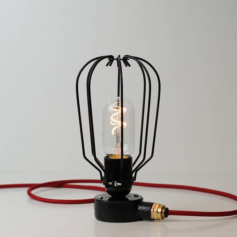 Conduit Box Table Lamp Black